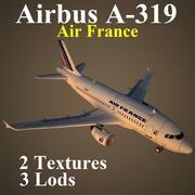 A319 AFR 3d model