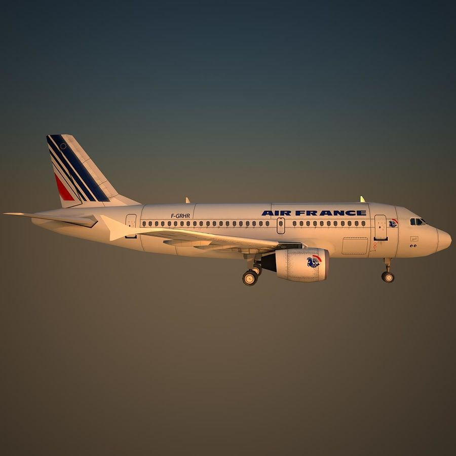 A319 AFR royalty-free 3d model - Preview no. 3