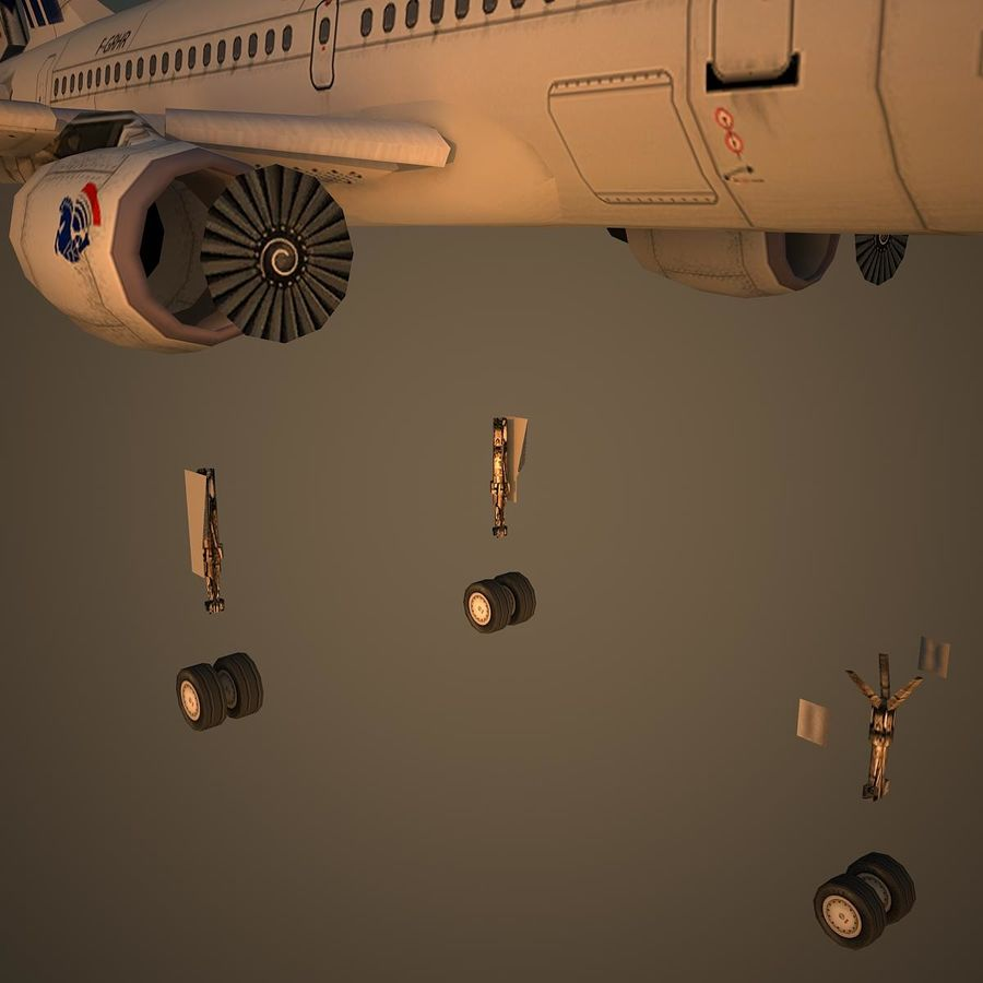 A319 AFR royalty-free 3d model - Preview no. 10