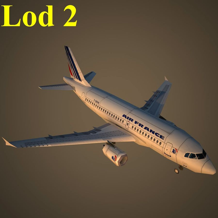 A319 AFR royalty-free 3d model - Preview no. 15