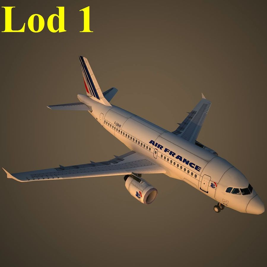 A319 AFR royalty-free 3d model - Preview no. 14