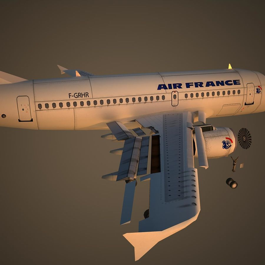A319 AFR royalty-free 3d model - Preview no. 11