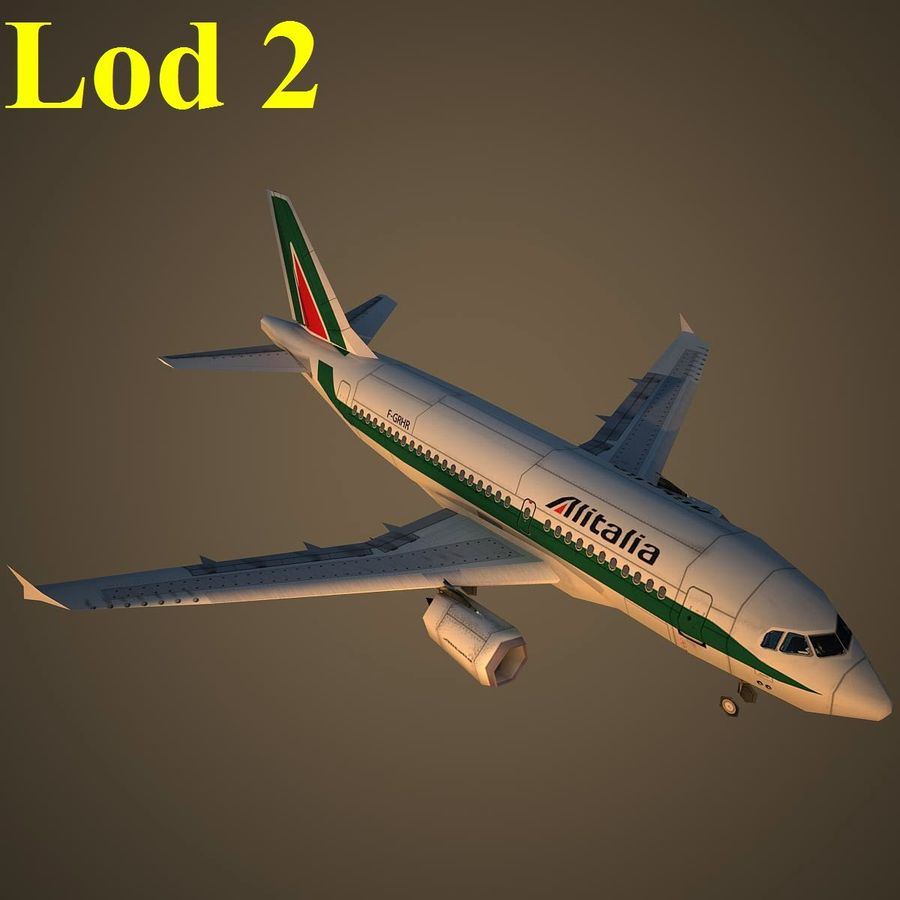 A319 AZA royalty-free modelo 3d - Preview no. 15