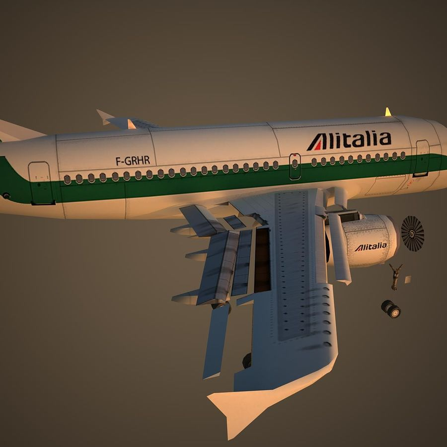 A319 AZA royalty-free modelo 3d - Preview no. 11