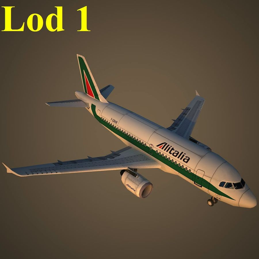 A319 AZA royalty-free 3d model - Preview no. 14