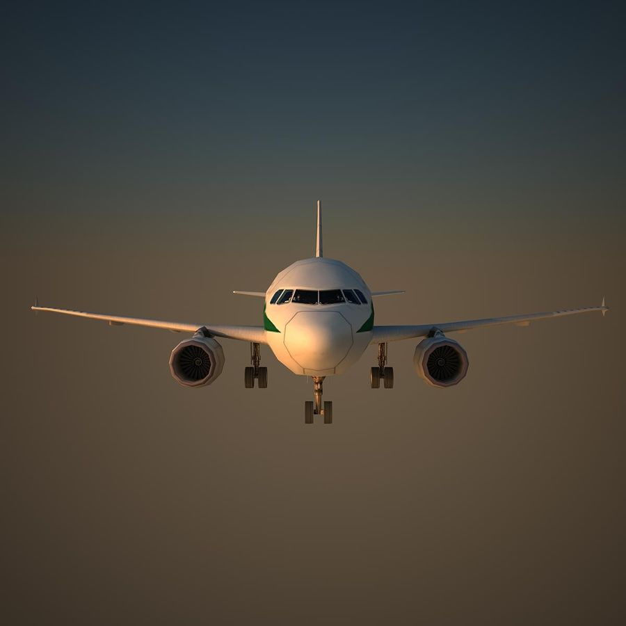 A319 AZA royalty-free modelo 3d - Preview no. 2