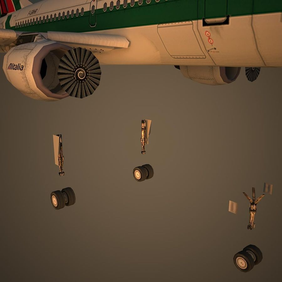 A319 AZA royalty-free 3d model - Preview no. 10