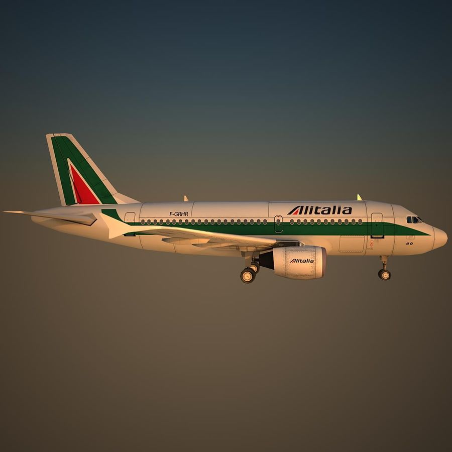 A319 AZA royalty-free 3d model - Preview no. 3