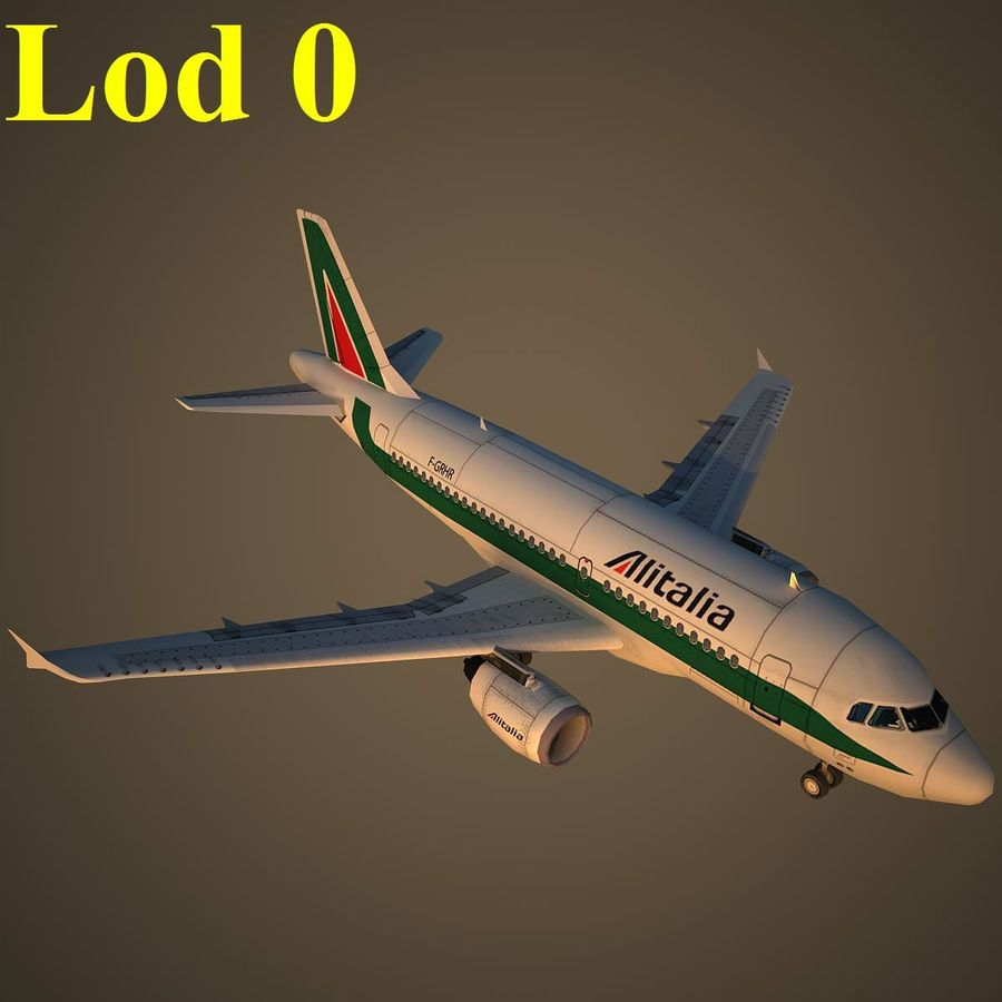 A319 AZA royalty-free modelo 3d - Preview no. 13