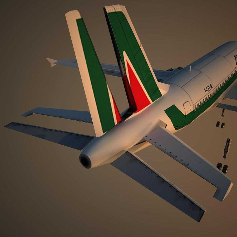 A319 AZA royalty-free modelo 3d - Preview no. 12