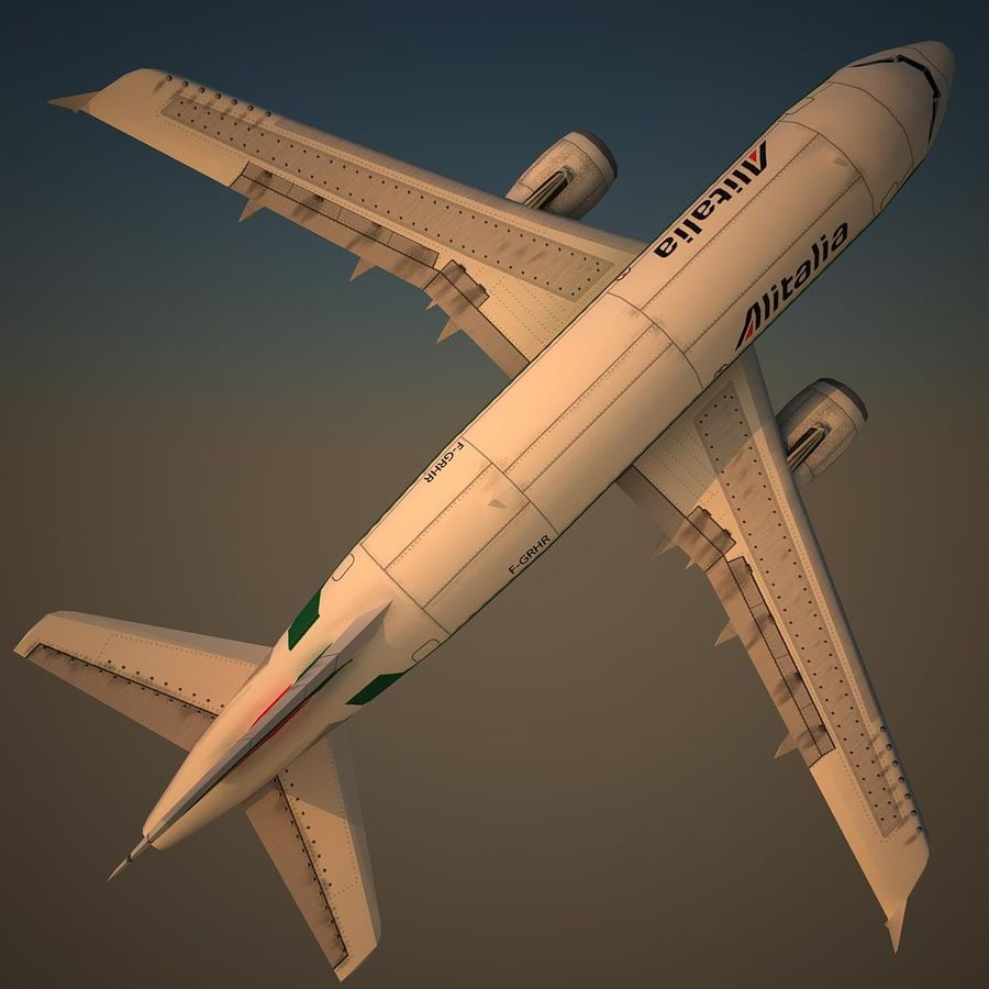 A319 AZA royalty-free modelo 3d - Preview no. 5