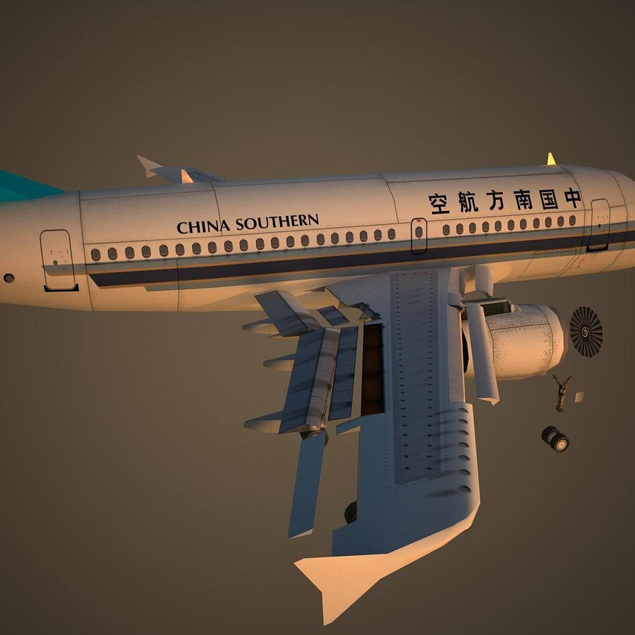 A319 CSN royalty-free 3d model - Preview no. 11