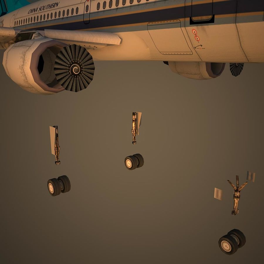 A319 CSN royalty-free 3d model - Preview no. 10