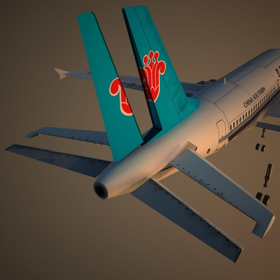 A319 CSN royalty-free 3d model - Preview no. 12