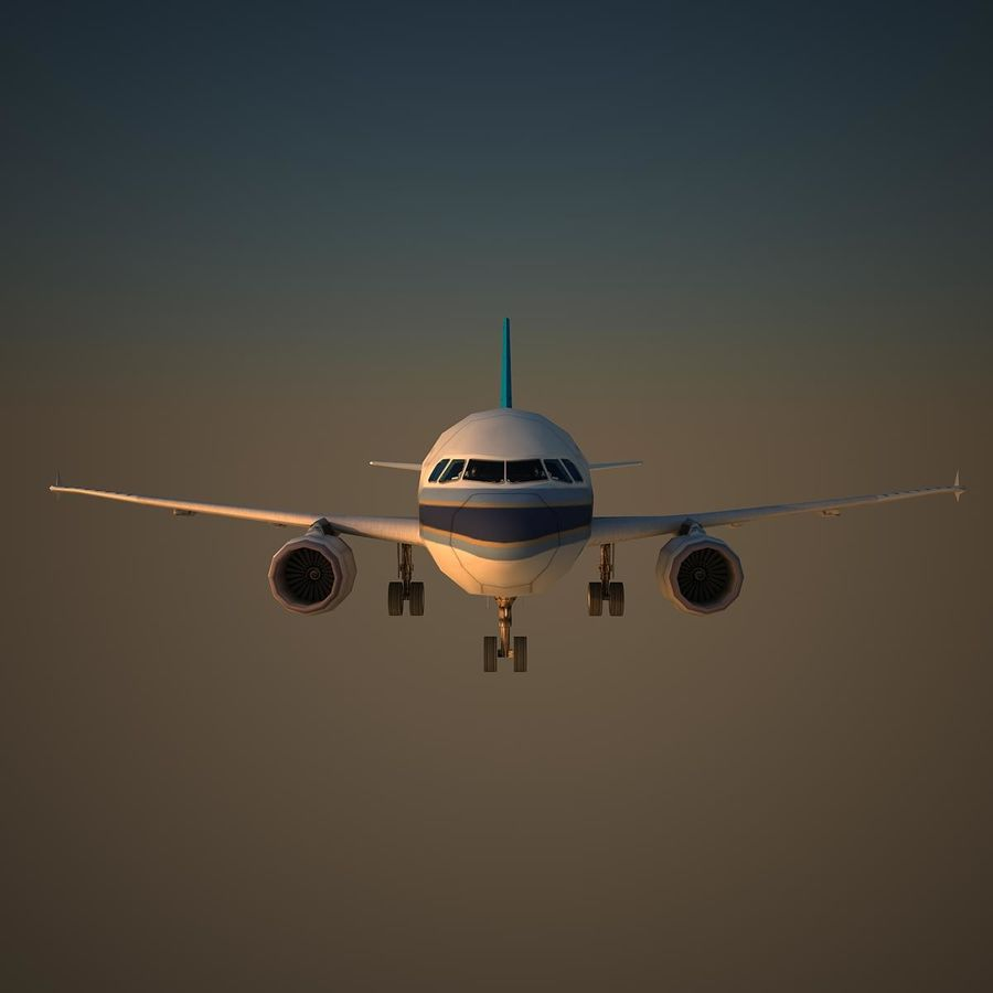 A319 CSN royalty-free 3d model - Preview no. 2