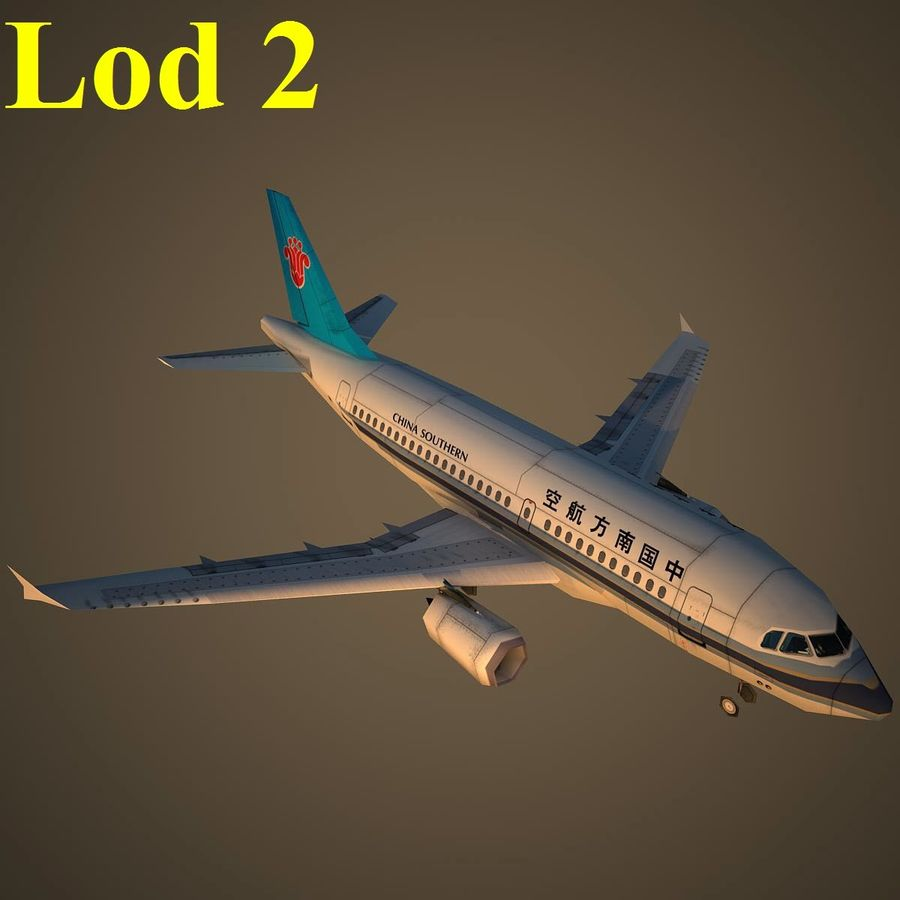 A319 CSN royalty-free 3d model - Preview no. 15