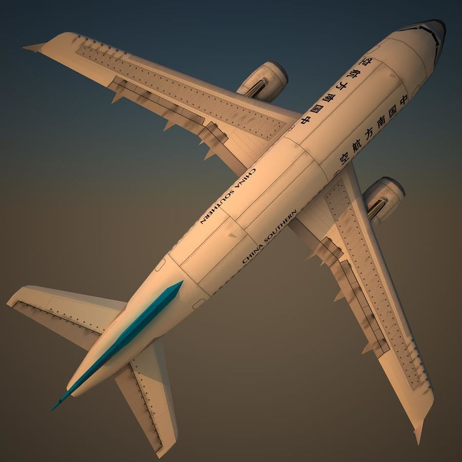 A319 CSN royalty-free 3d model - Preview no. 5