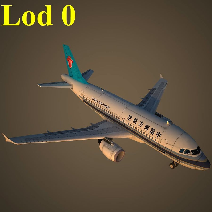 A319 CSN royalty-free 3d model - Preview no. 13