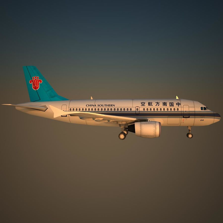 A319 CSN royalty-free 3d model - Preview no. 3