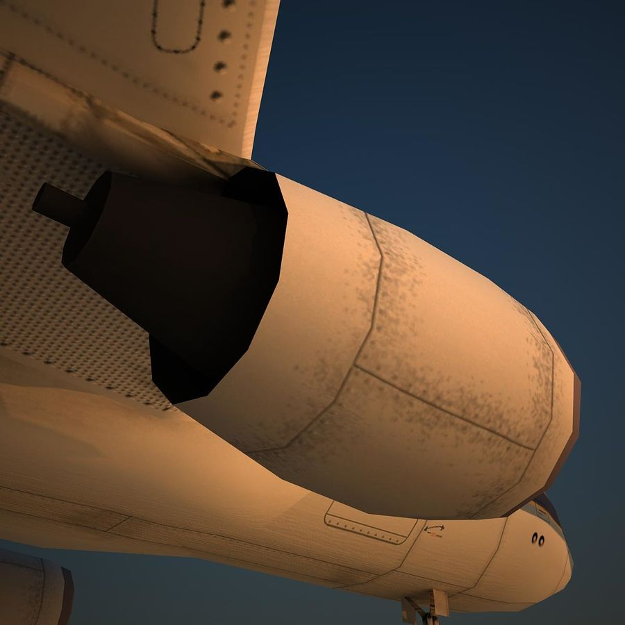 A319 CSN royalty-free 3d model - Preview no. 8