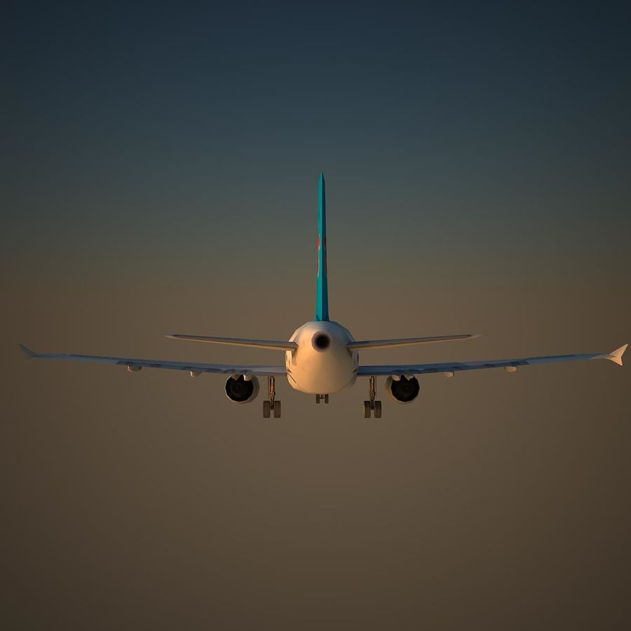 A319 CSN royalty-free 3d model - Preview no. 4