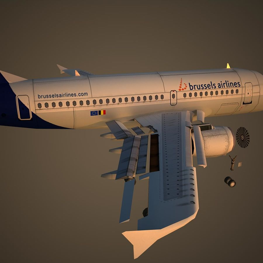 A319 DAT royalty-free 3d model - Preview no. 11