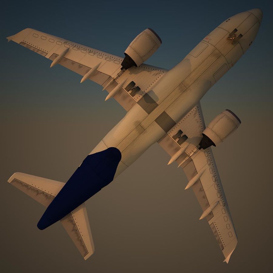 A319 DAT royalty-free 3d model - Preview no. 6