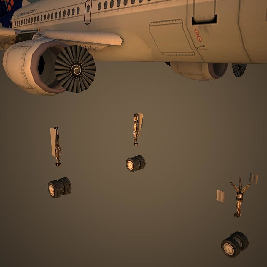 A319 DAT royalty-free 3d model - Preview no. 10