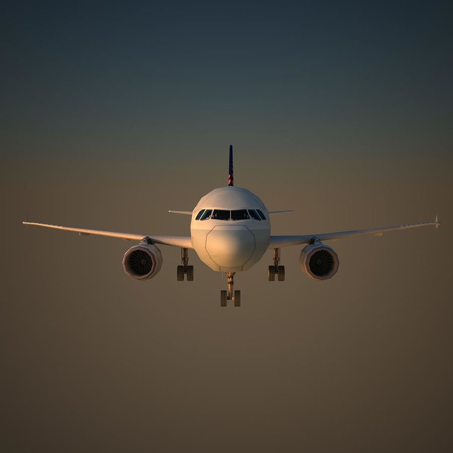 A319 DAT royalty-free 3d model - Preview no. 2