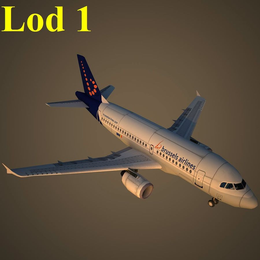 A319 DAT royalty-free 3d model - Preview no. 14