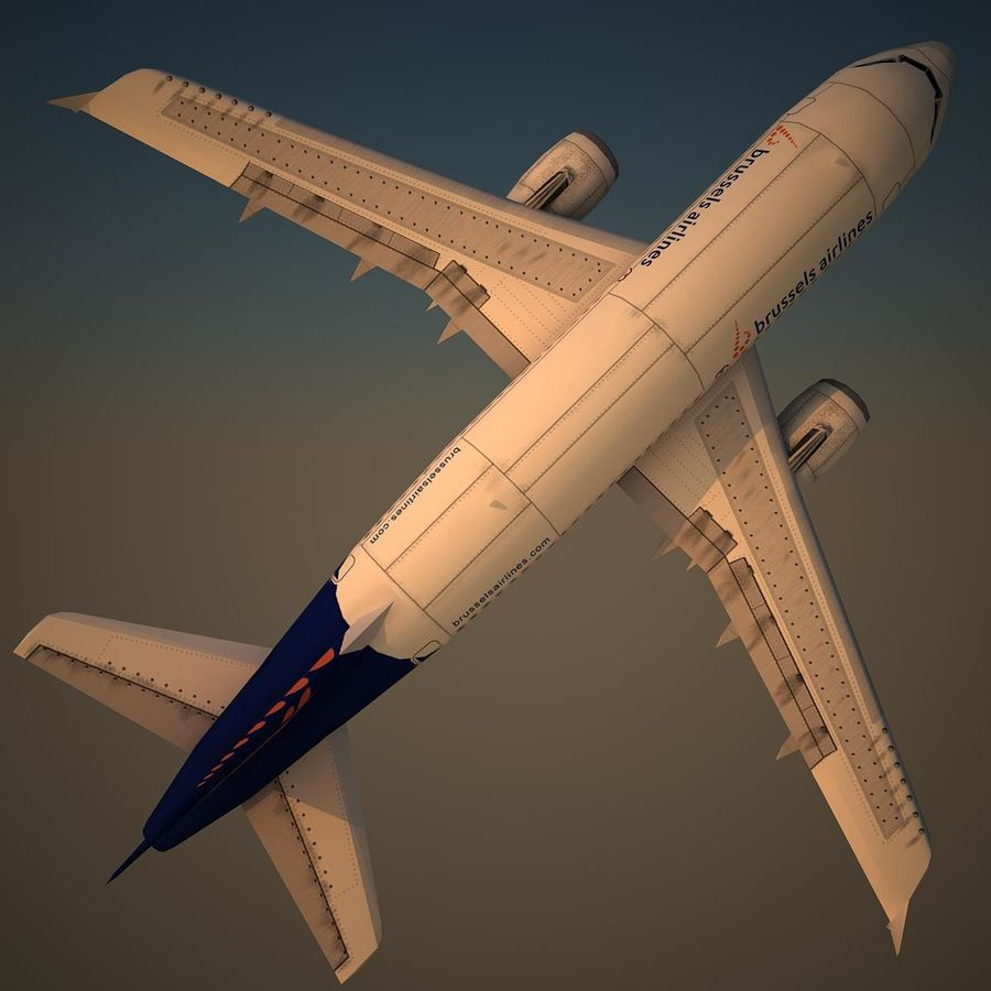A319 DAT royalty-free 3d model - Preview no. 5