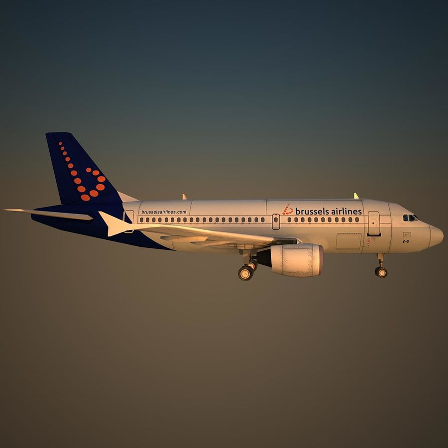 A319 DAT royalty-free 3d model - Preview no. 3