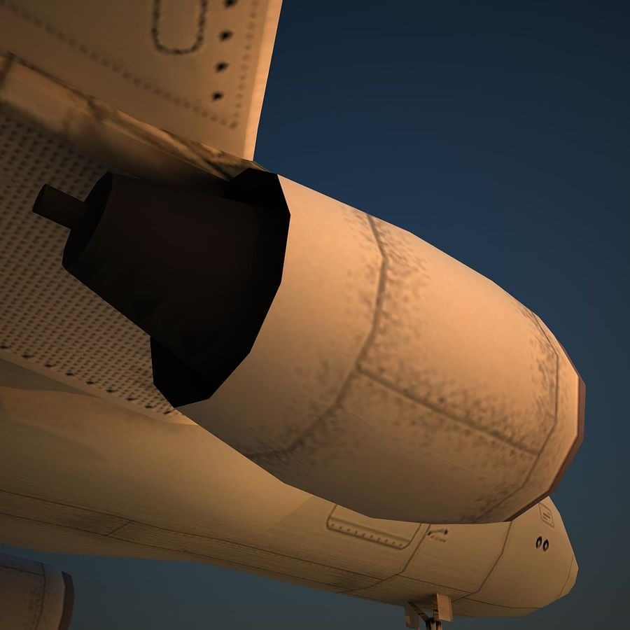 A319 DAT royalty-free 3d model - Preview no. 8