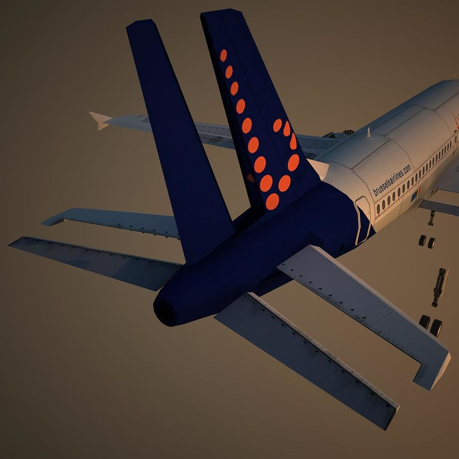 A319 DAT royalty-free 3d model - Preview no. 12