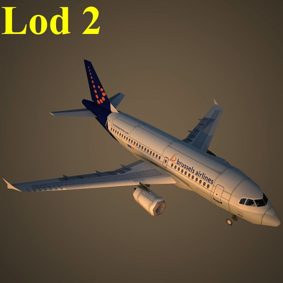 A319 DAT royalty-free 3d model - Preview no. 15