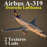 A319 DLH 3d model
