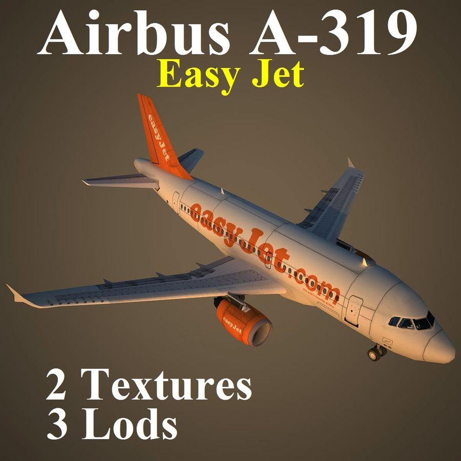 A319 EZY royalty-free 3d model - Preview no. 1