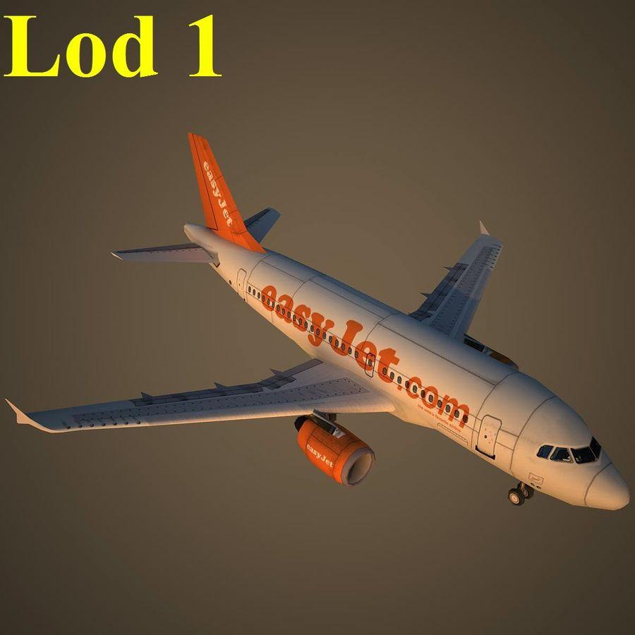 A319 EZY royalty-free 3d model - Preview no. 14