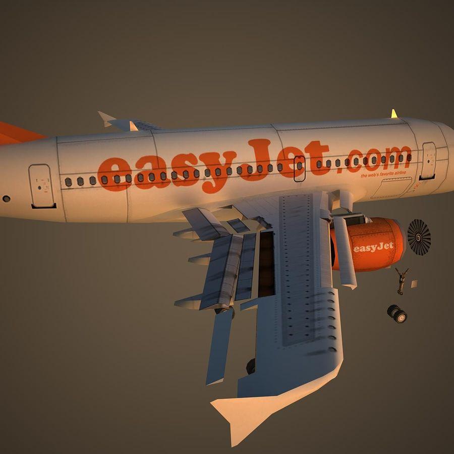 A319 EZY royalty-free 3d model - Preview no. 11