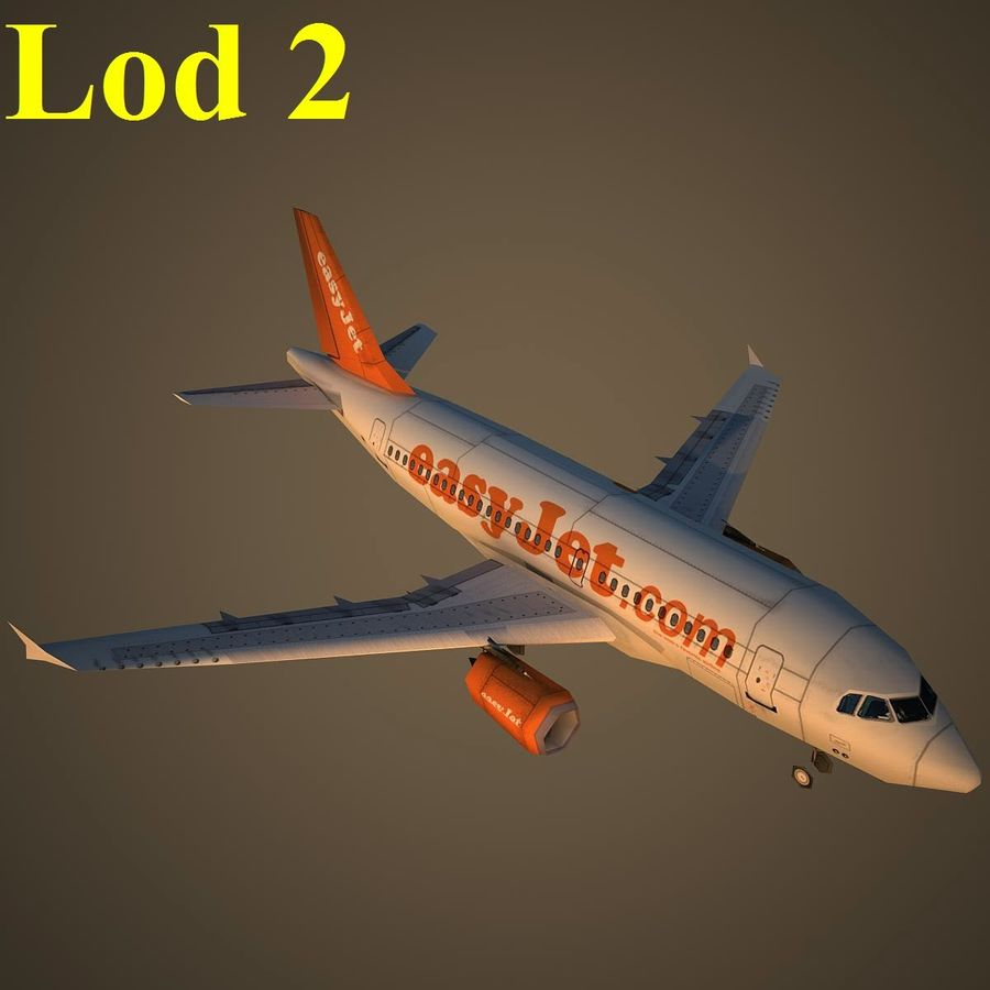 A319 EZY royalty-free 3d model - Preview no. 15