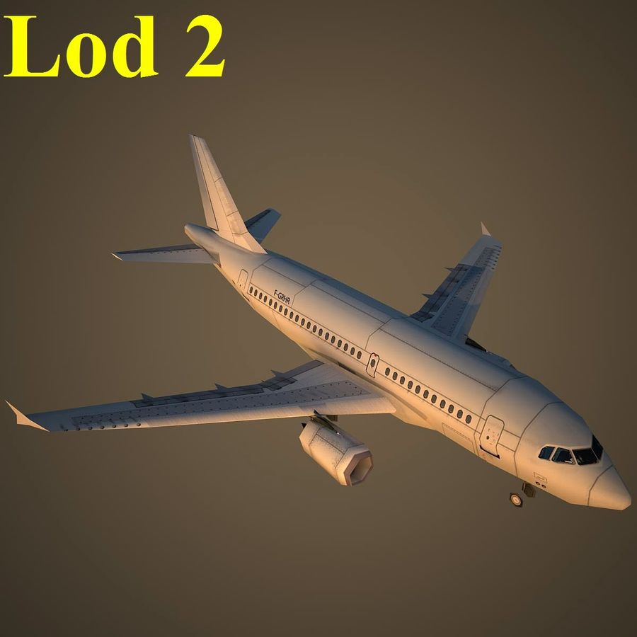 A319 Basic royalty-free 3d model - Preview no. 15