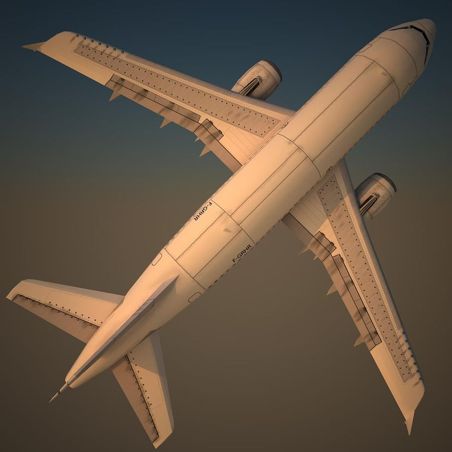 A319 Basic royalty-free 3d model - Preview no. 5