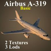 A319 Basic 3d model