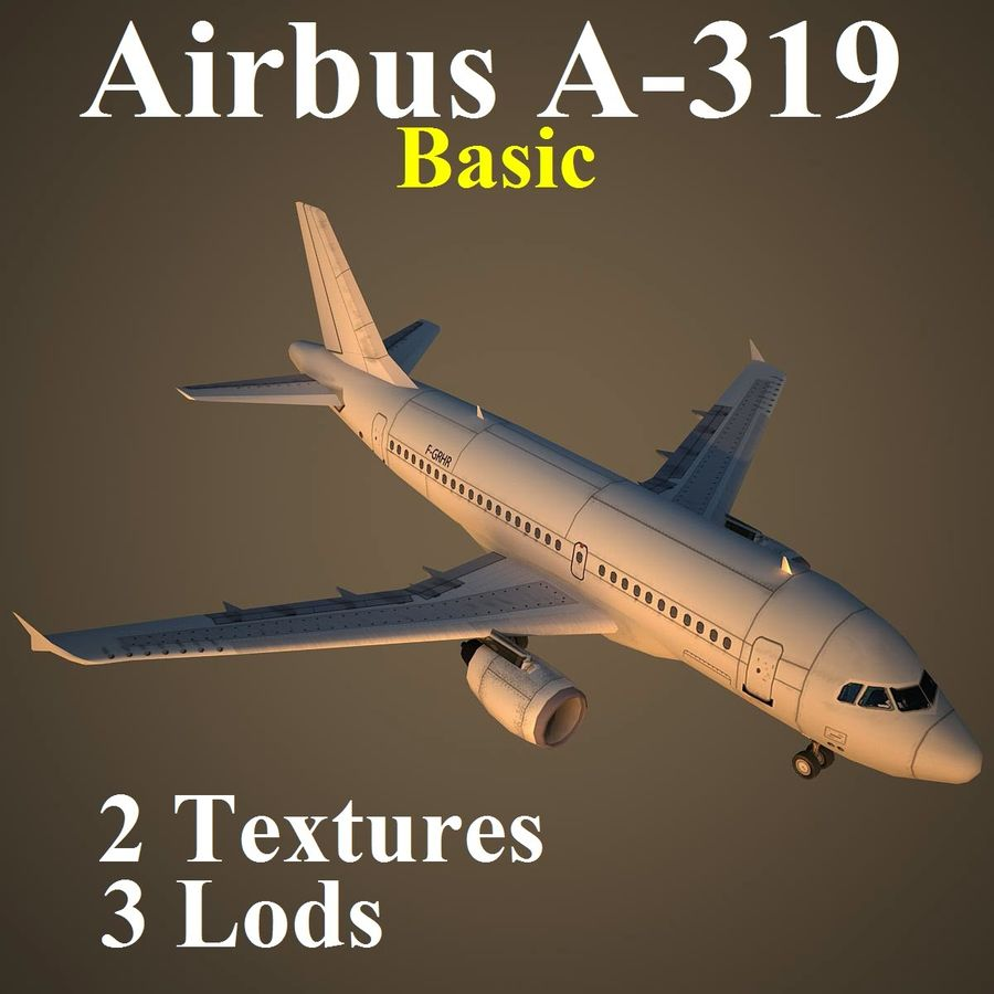 A319 Basic royalty-free 3d model - Preview no. 1