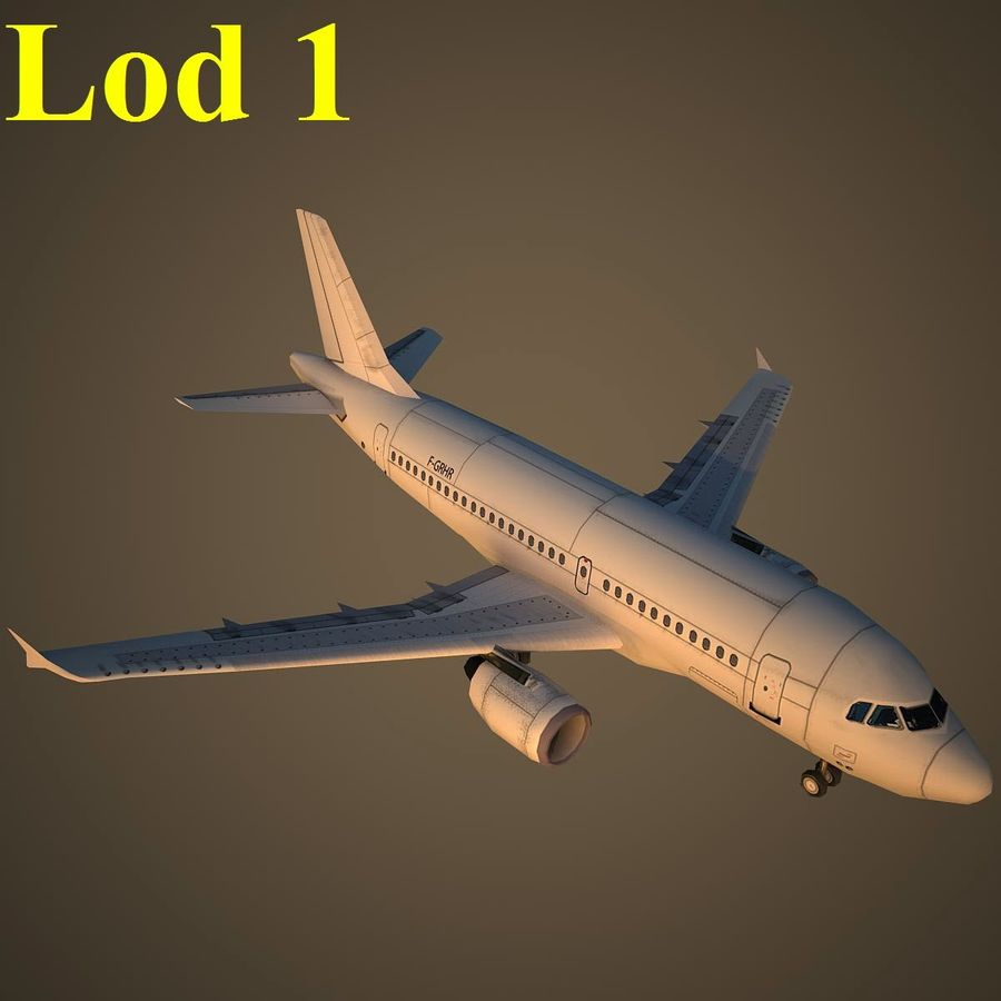 A319 Basic royalty-free 3d model - Preview no. 14
