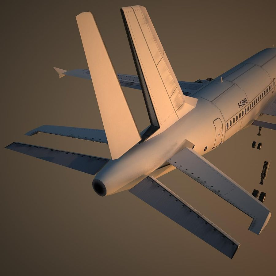 A319 Basic royalty-free 3d model - Preview no. 12