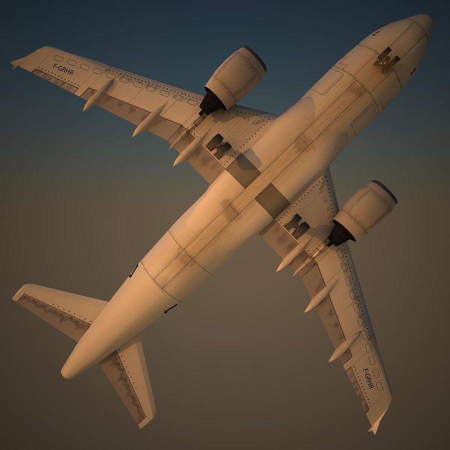 A319 Basic royalty-free 3d model - Preview no. 6