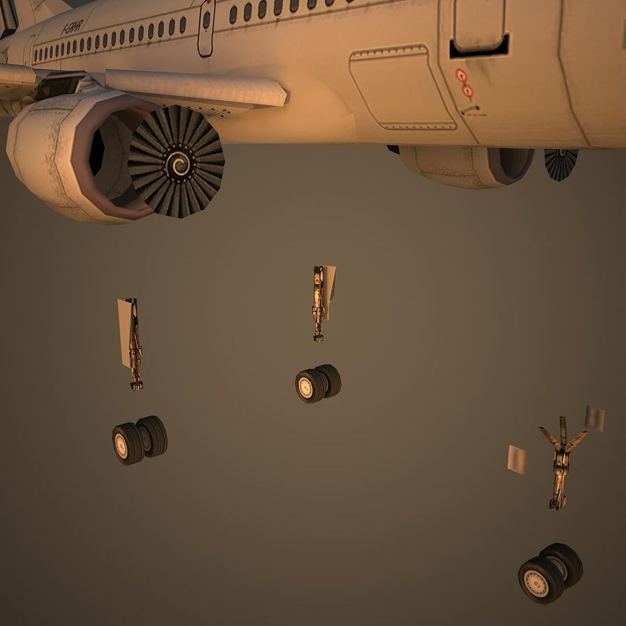 A319 Basic royalty-free 3d model - Preview no. 10