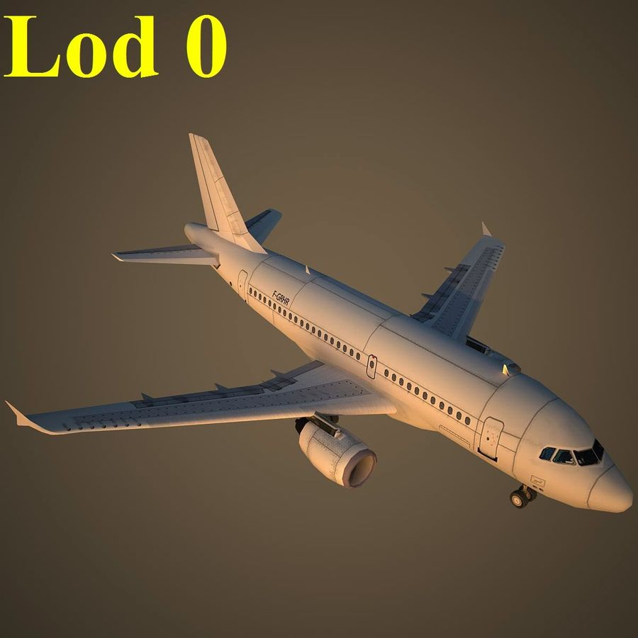 A319 Basic royalty-free 3d model - Preview no. 13
