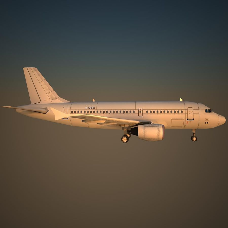 A319 Basic royalty-free 3d model - Preview no. 3